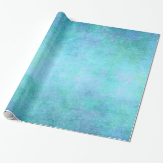 Bleu, pourpre turquoises, Aqua, et aquarelle Papier Cadeau Noël