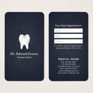 Bleu professionnel de rendez-vous de dentiste de cartes de visite