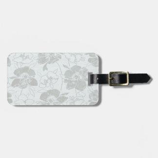Bleu romantique/gris de fleur étiquette à bagage