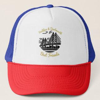 Bleu rouge de casquette de meilleurs amis de