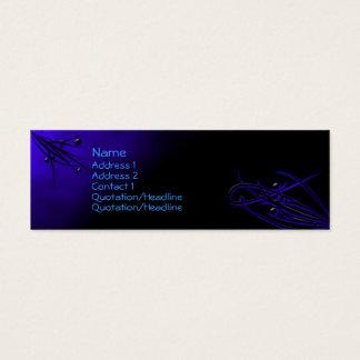 Bleu sur la carte noire de profil de Flourish