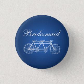 Bleu tandem de vélo de faveur élégante de badge rond 2,50 cm