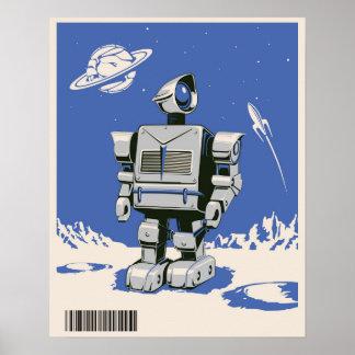 Bleu vintage du robot 1