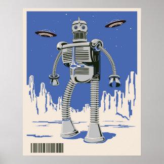 Bleu vintage du robot 3