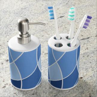 Bleus de ciel portes brosse à dents