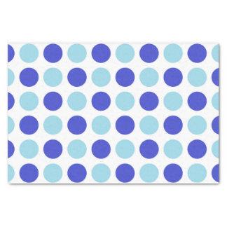 Bleus de point de polka papier mousseline