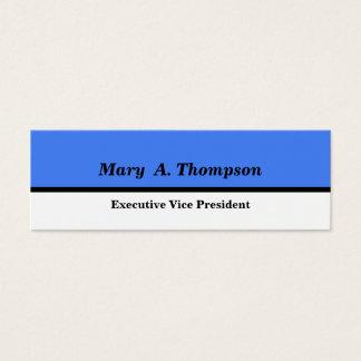 Bloc blanc bleu de couleur mini carte de visite