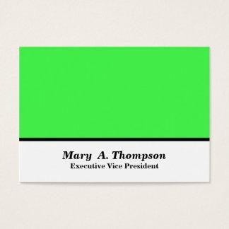 Bloc blanc de couleur de vert de chaux cartes de visite