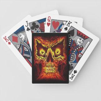 Bloc de crâne jeu de cartes