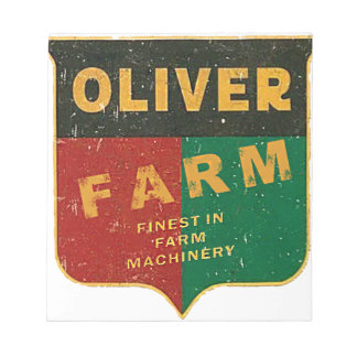 Bloc-note Agriculture d'Oliver