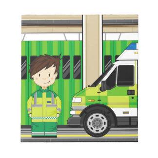 Bloc-note Ambulance de bande dessinée et EMT