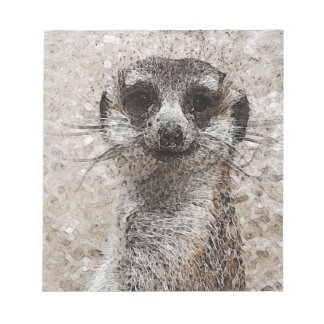 Bloc-note animal abstrait - Meerkat