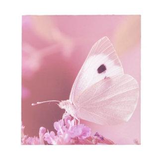 Bloc-note Animaux de papillons vous manquant ressort rose