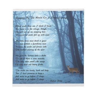 Bloc-note Arrêt par les bois par : Robert Frost