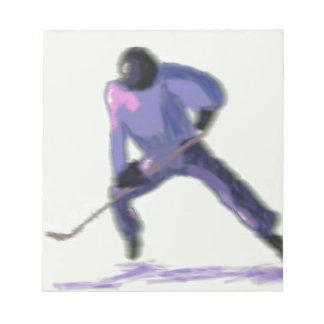 Bloc-note Art de joueur de hockey