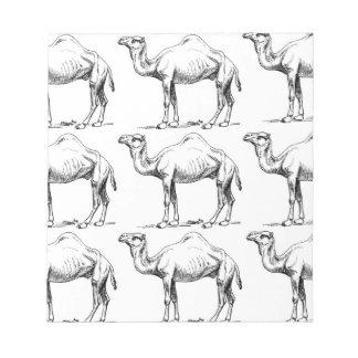 Bloc-note Art de troupeau de chameau