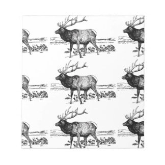 Bloc-note art de troupeau d'élans ouais