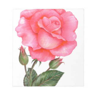 Bloc-note Art floral de rose de rose