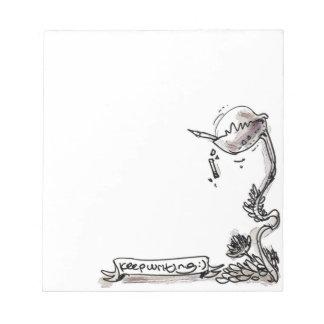 Bloc-note bande dessinée drôle de plante carnivore