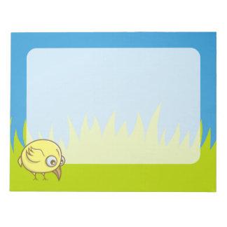 Bloc-note Bande dessinée jaune d'oiseau