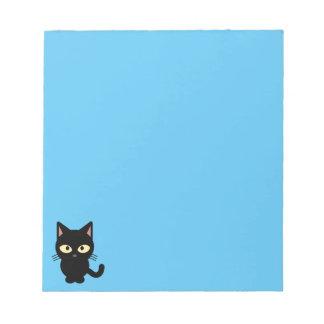 Bloc-note Bande dessinée mignonne de chat noir