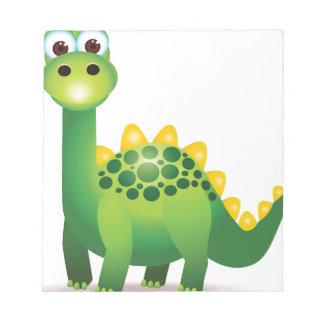 Bloc-note Bande dessinée mignonne de dinosaure vert