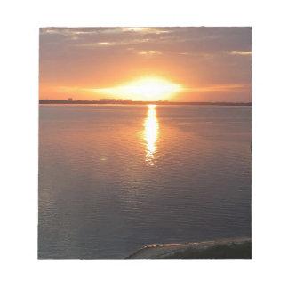 Bloc-note Beau coucher du soleil