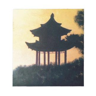 Bloc-note Beau paysage de coucher du soleil d'art de