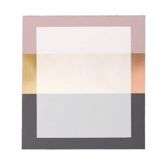 Bloc-note bloc gris de couleur de rose rose lumineux élégant