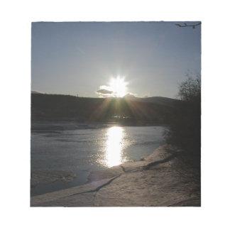 Bloc-note bloc - notes avec la photo du fleuve Yukon