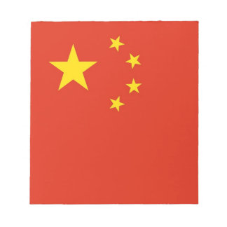 Bloc-note Bloc - notes avec le drapeau de la Chine