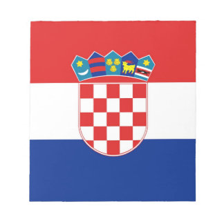 Bloc-note Bloc - notes avec le drapeau de la Croatie