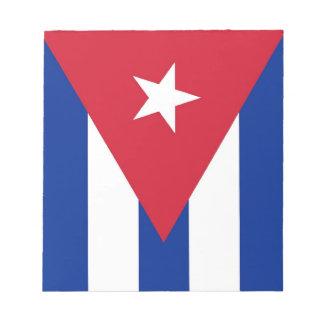 Bloc-note Bloc - notes avec le drapeau du Cuba