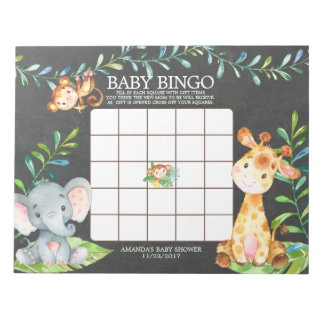 Bloc-note Bloc - notes de jeu de bingo-test de baby shower