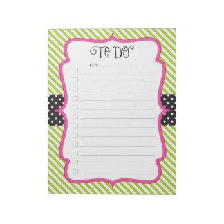 Bloc-note Bloc - notes de liste de contrôle de remue-ménage