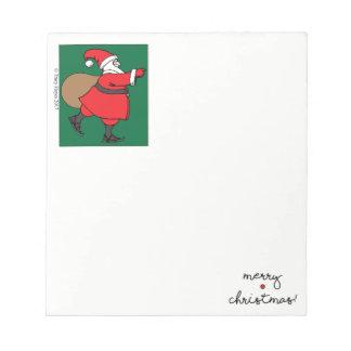 Bloc-note Bloc - notes de patinage de Père Noël