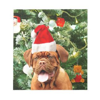 Bloc-note Boîte-cadeau de bonhomme de neige d'arbre de Noël