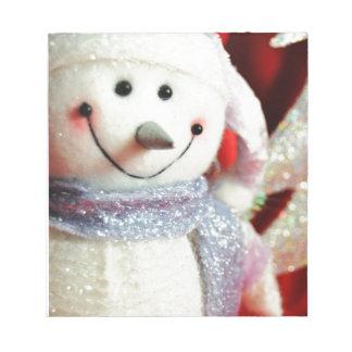 Bloc-note Bonhomme de neige de Noël