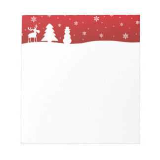 Bloc-note Bonhomme de neige de renne d'arbre de Noël - bloc