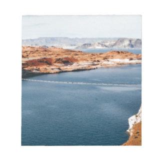 Bloc-note bord de lac de gloire