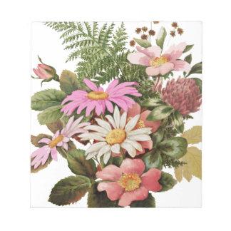 Bloc-note bouquet de fleur
