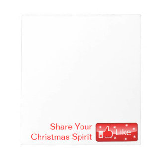 Bloc-note Bouton social de part de médias d'esprit de Noël