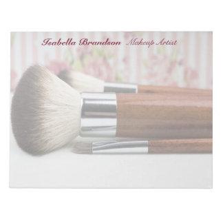 Bloc-note Brosses de maquillage de maquilleur