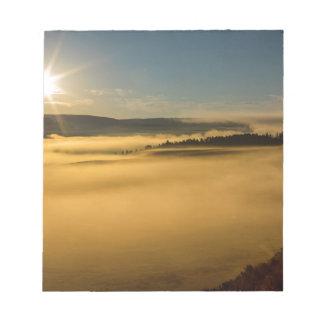 Bloc-note Brouillard sur le lac Yellowstone