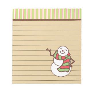 Bloc-note Cadeau mignon de bloc - notes de bonhomme de neige