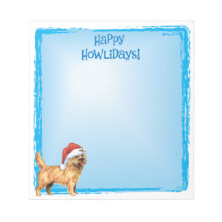 Bloc-note Cairn Terrier heureux de Howlidays