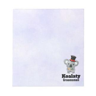 Bloc-note Calembour mignon Koalaty Groomsman de koala