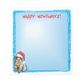 Bloc-note Caniche miniature heureux de Howlidays