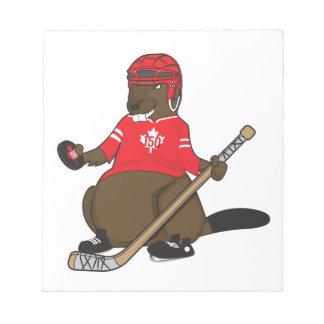 Bloc-note Castor d'hockey du Canada 150 en 2017