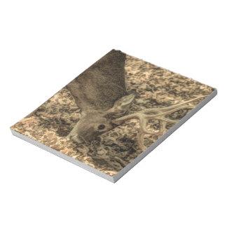 Bloc-note cerf de Virginie d'outdoorsman de camouflage de